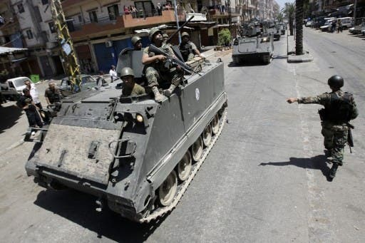 The Lebanese army will be deployed in Tripoli for six months in a bid to calm sectarian tensions. (AFP/File)