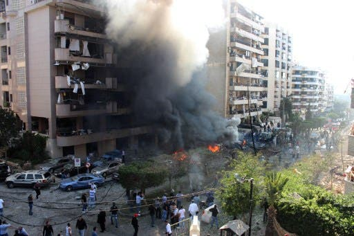 A suicide bomb exploded near Iran's Embassy in Beirut in late 2013. The Lebanese based Abdullah Azzam Brigades claimed responsibility. (AFP/File)