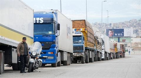 Farmers in Lebanon have urged authorities to allow trucks to cross the Syrian border