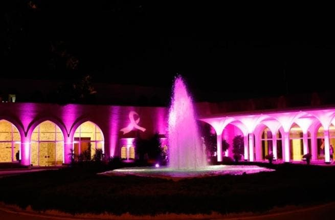Lebanon's pink palace (photo courtesy of Lebanon's National Breast Cancer Committee)