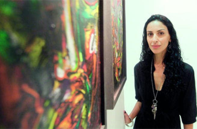 Lina Ogaili studied at Britain's University of Kingston, and she is a member of the Emirates Society for Fine Arts in the UAE.