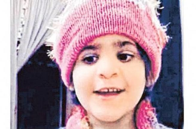 Luma, the five year-old girl who was tortured to death by her father Fayhan Al Gamdi. (Image courtesy of Gulf News)