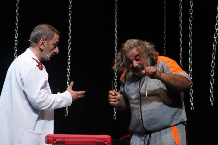 """A scene from the play """"Majnoun Yehki"""" (Crazy Man Speaks). (Image: Facebook)"""