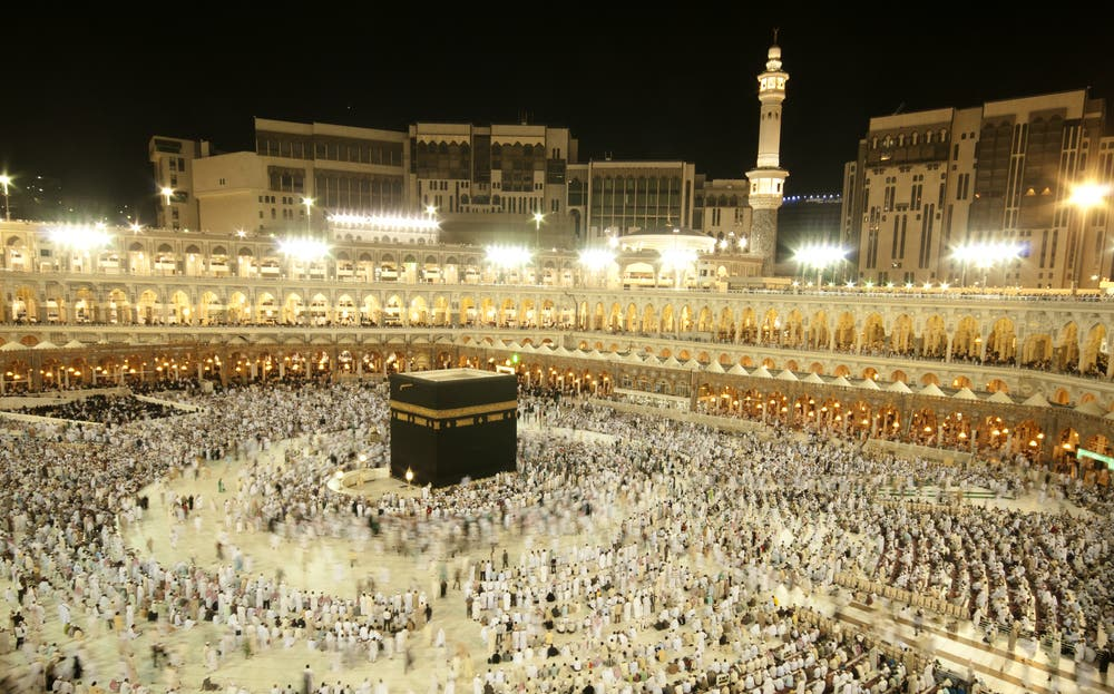 Pilgrims circumambulate the Kaaba at Masjidil Haram in Mecca (Shutterstock/AHMAD FAIZAL YAHYA)