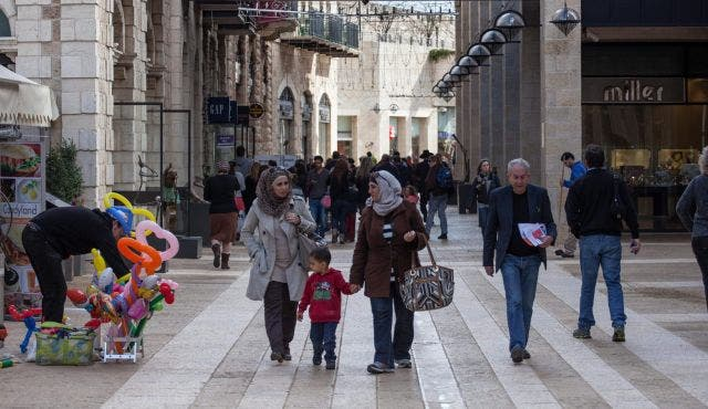 Mamilla mall, just meters away from Jerusalem's Old City, was allegedly at the centre of a Hamas bomb attack foiled by Israeli security agency Shin Bet. (Image via Haaretz)