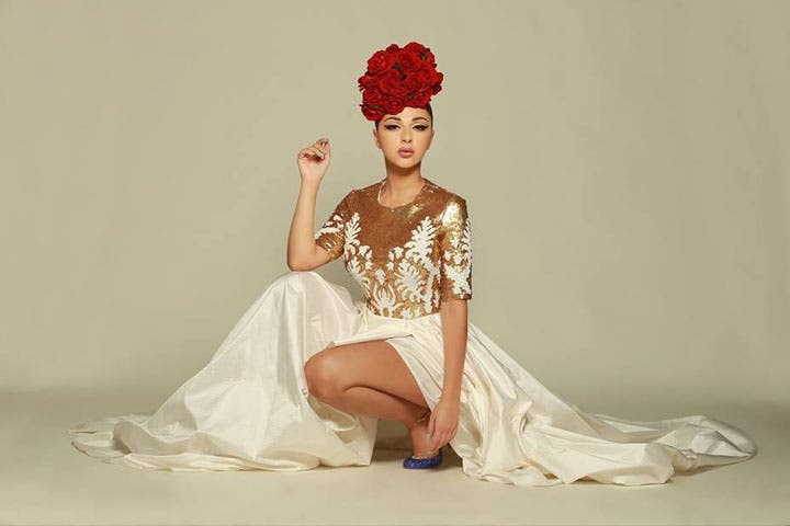 Myriam Fares says she dresses according to the country she's in. (Image: Facebook)