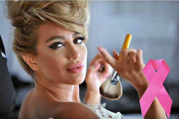 Maya Diab's fighting against breast cancer with a little dose of fashion.