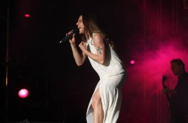 Melanie C, popular singer from UK is seen performing during her concert at Beats on the Beach at Abu Dhabi Corniche at Al Sahil Beach on Thursday night. (PHOTO: ABDUL RAHMAN/GULF NEWS)