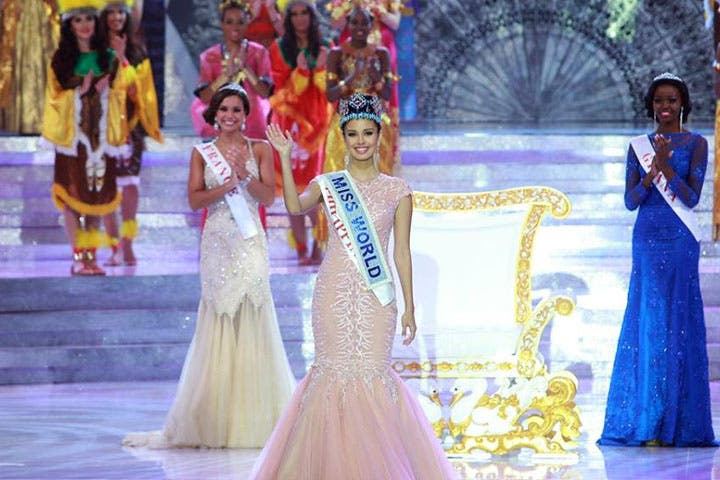 The beautiful Filipina Megan Young was crowned this year's Miss World. (Image: Facebook)