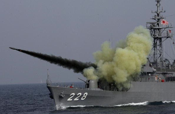 Missiles, this time off the coast of Japan