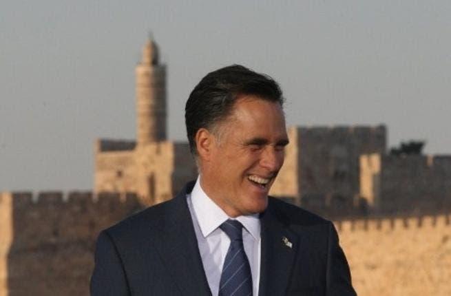Mitt Romney in the disputed capital, Jerusalem
