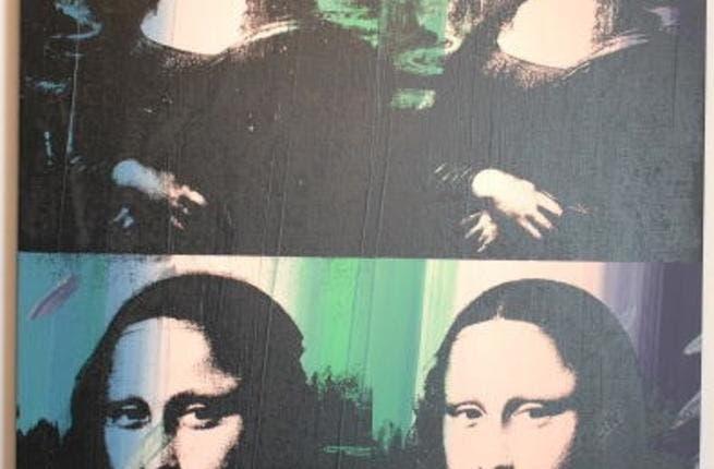 The Mona Lisa. Andy Warhol style