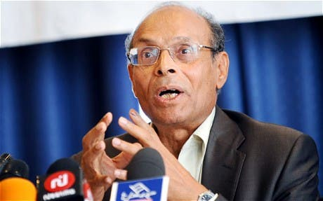Tunisia's president Moncef Marzouki told reporters in Paris that his country