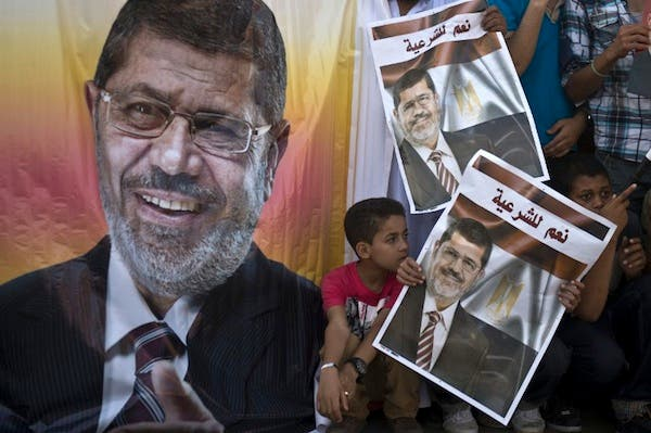 Morsi and 14 other senior Islamists and Muslim Brotherhood figures are standing trial on charges of inciting violence and murder at the Ittihadiya presidential palace clashes in December 2012.