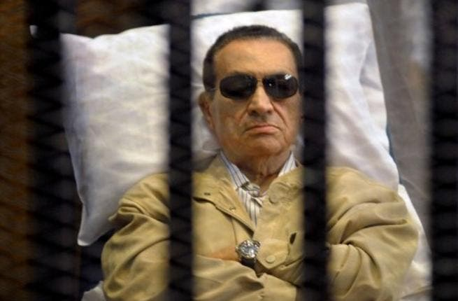 Mubarak was airlifted to the court from his hospital bed.
