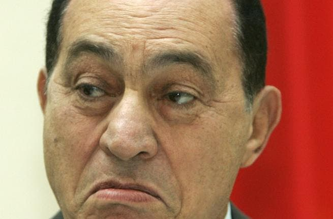 He's back!- with a vengeance, 'Hosni Mubarak' for President 2012.