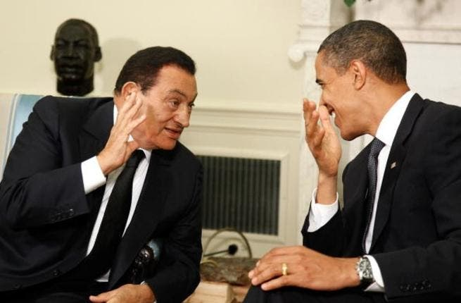 Hosni Mubarak in a witty exchange