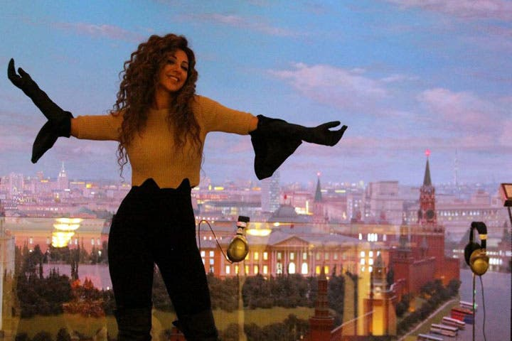 Myriam Fares enjoying the sites in Moscow. (Image: Facebook)
