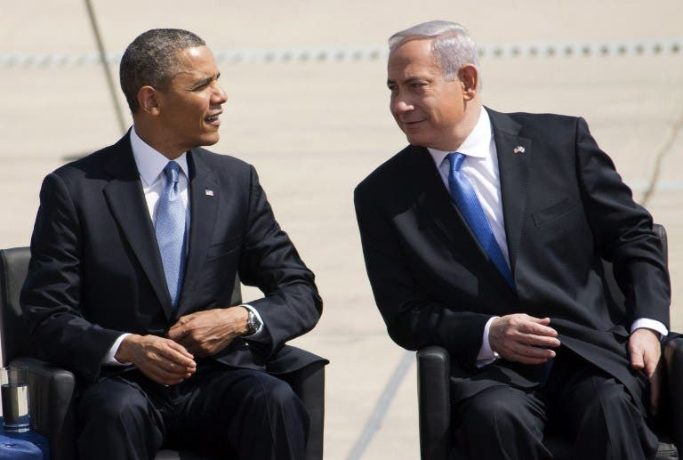 US President Barack Obama meets Israel Prime Minister Benjamin Netanyahu (AFP Photo)