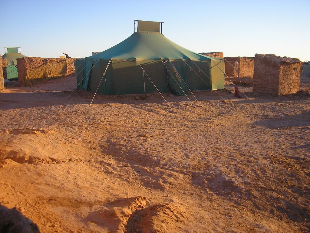 A Polisario refugee camp in the Western Sahara (Source: Wikimedia)