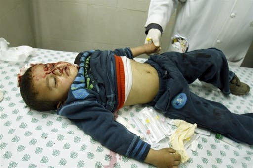 Under the cover of Arab revolutionary tumult, the Israeli aerial attacks including child casualties
