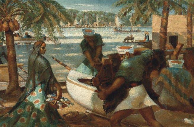Mahmoud Said - Pecheurs a Rosette - 1941