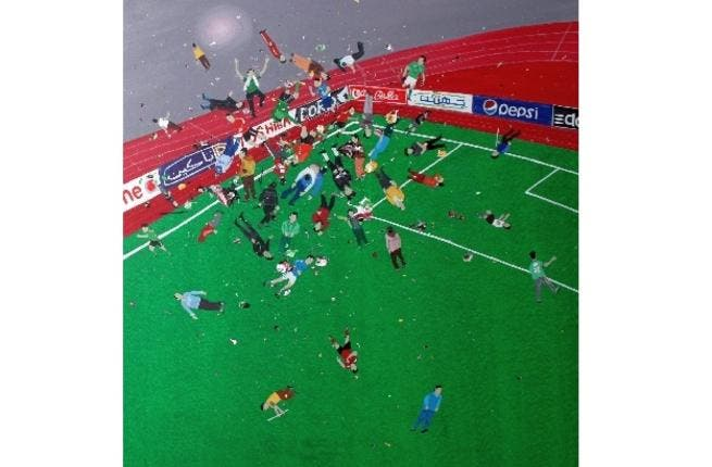 Hany Rashed's painting about the Port Said massacre.