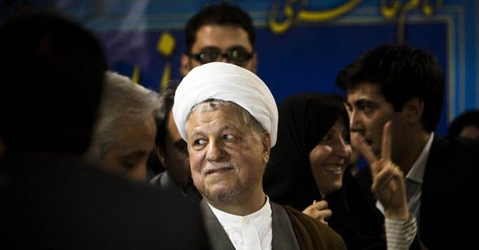 Rafsanjani, who is seen by many as too old to run Iran yet again. AFP Photo