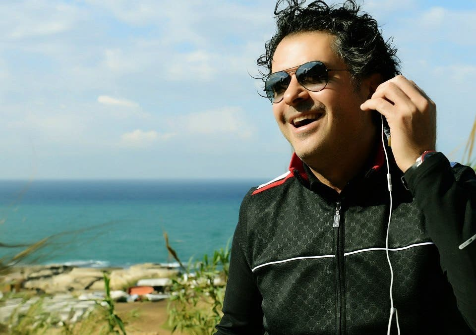 Ragheb shows off his morning workout routine.