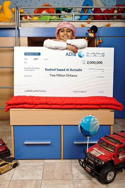 Rashid Saeed Al Rumaihi, Winner of Ghina Savings Account