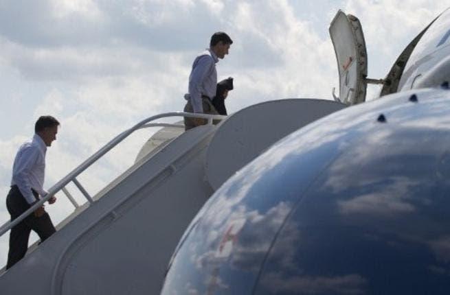 Boarding the plane: Paul Ryan
