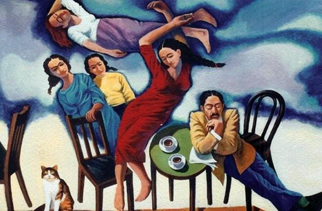 Painting by Sadiq Toma