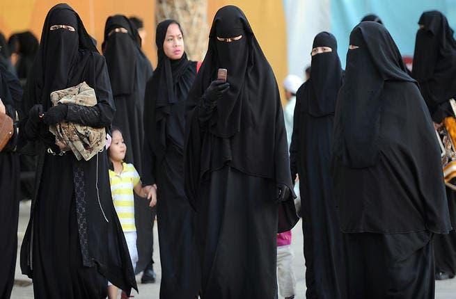 Saudi women arrive to attend the morning Eid al-Fitr prayer at Turki bin Abdullah grand mosque in Riyadh (AFP/FAYEZ NURELDINE)