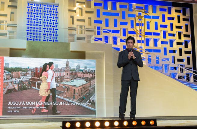 Indian actor Shahrukh Khan attends the tribute to Hindi cinema at the 12th Marrakech International Film Festival