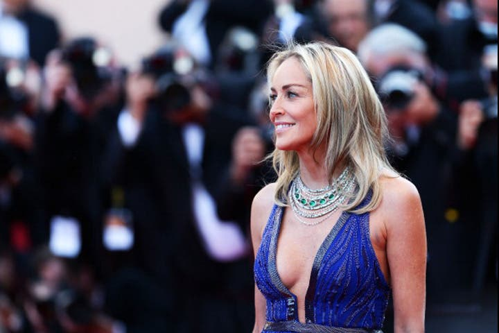 Actress Sharon Stone attends the 'Behind The Candelabra' premiere during The 66th Annual Cannes Film Festival at Theatre Lumiere on May 21, 2013 in Cannes, France. (Image: Vittorio Zunino Celotto/Getty Images)