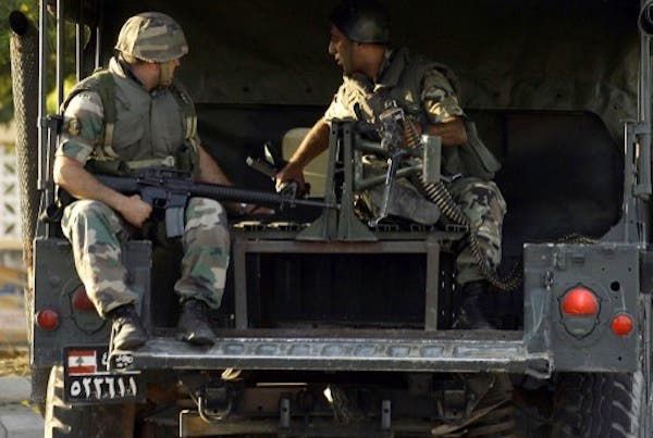 The Lebanese army deploy in the southern town of Sidon's eastern suburb of Abra. AFP photo