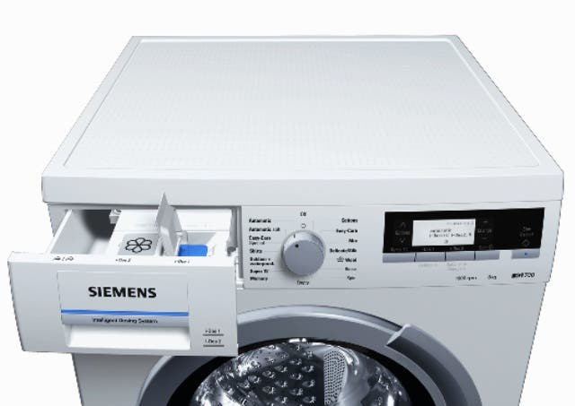 siemens launches idos the world s first washing machine with integrated dosing system al bawaba. Black Bedroom Furniture Sets. Home Design Ideas