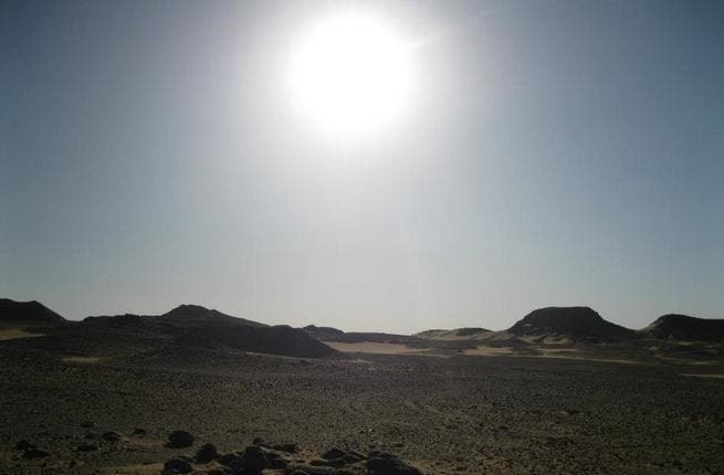 The Sinai desert.