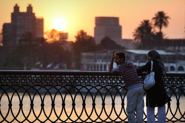 Sunset over the river Nile in Cairo