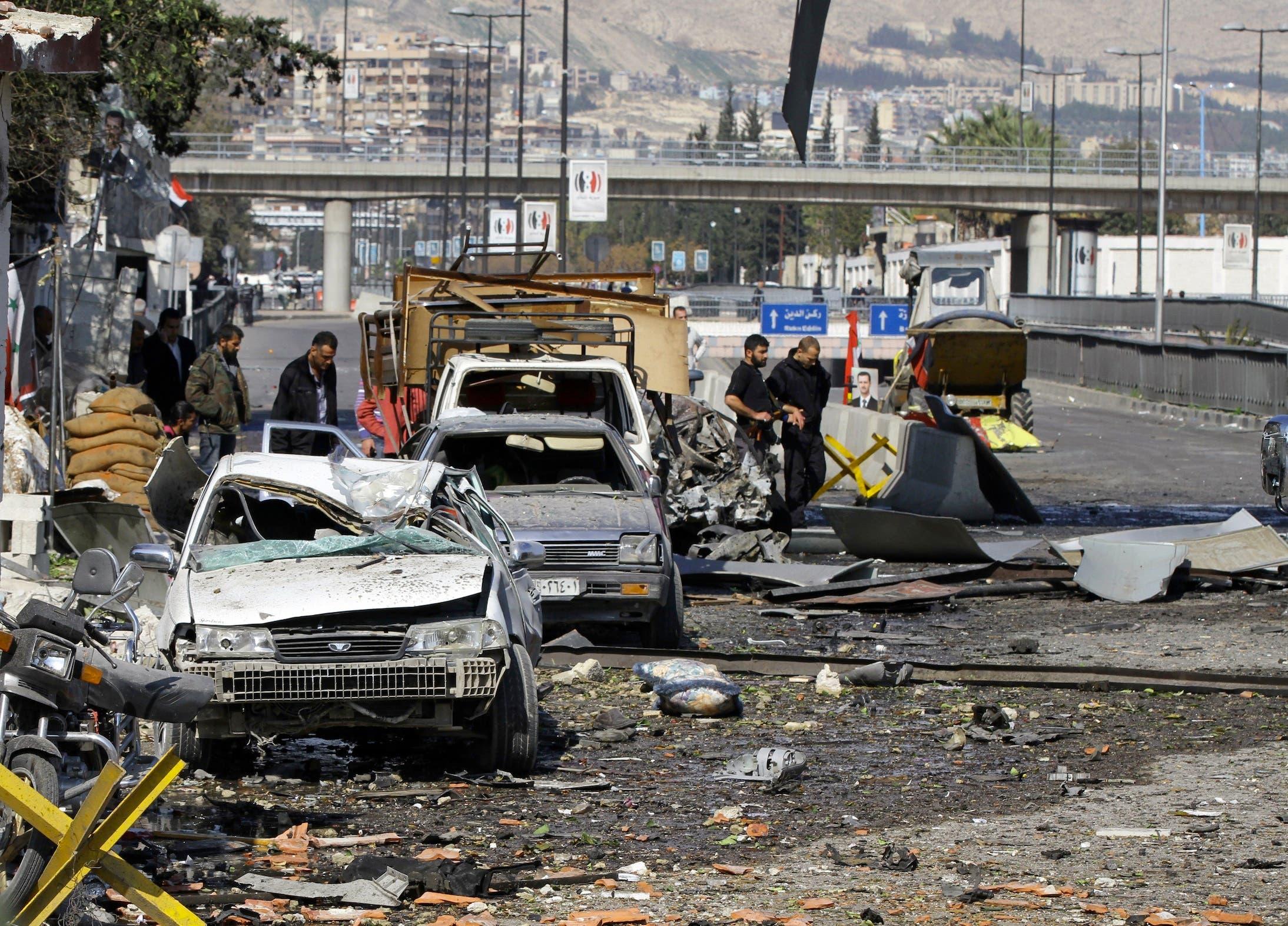 A Syrian car bomb rocks Assad's Damascus HQ