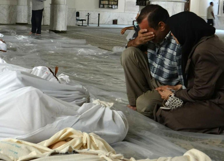The Syrian opposition says there has been another chemical weapons attack in Damascus. The last chemical weapons attack, on 21 August, killed over 1,400 people. (AFP/File)