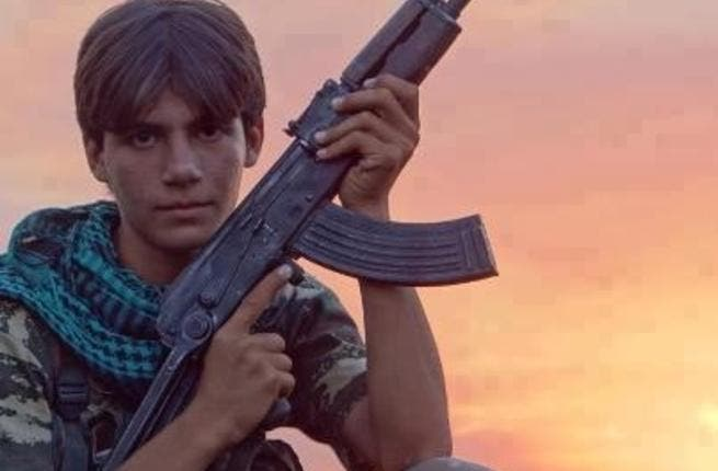 15-year-old Nour-Eddin Habash, a rebel fighter killed in Qalaat Harem, near Idlib