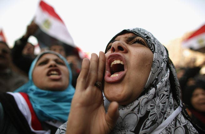 Women have long been active within Egypt's Muslim Brotherhood but this hasn't translated into leadership roles within the group, which remains hierarchical and male-dominated. (AFP/File)