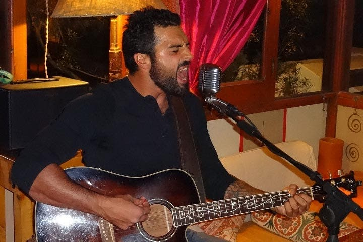 Tamer Emad during a performance (Courtesy of Tamer Emad)
