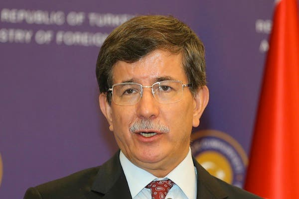 Turkish Foreign Minister Ahmet Davutoglu speaks during a press conference in Istanbul on August 24, 2013. (AFP)