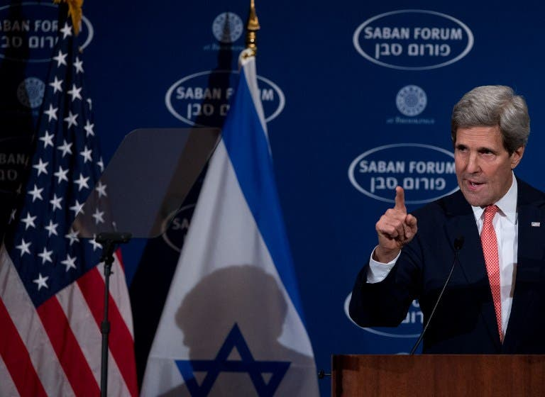 U.S. Secretary of State John Kerry will be returning to the Middle East just five days after his last visit in a bid to secure a full, not an interim, peace deal between the Palestinians and Israelis. (AFP)