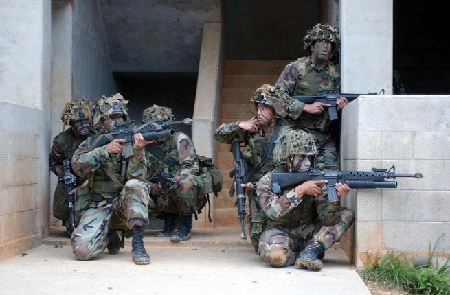 US Marines in practice mode (used for illustrative purposes)