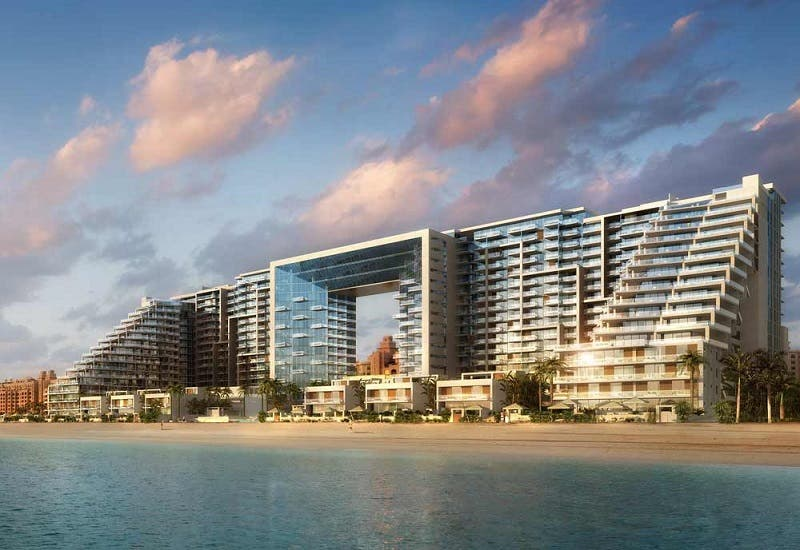 An artist's impression of the Dubai Palm Jumeirah managed by Viceroy.