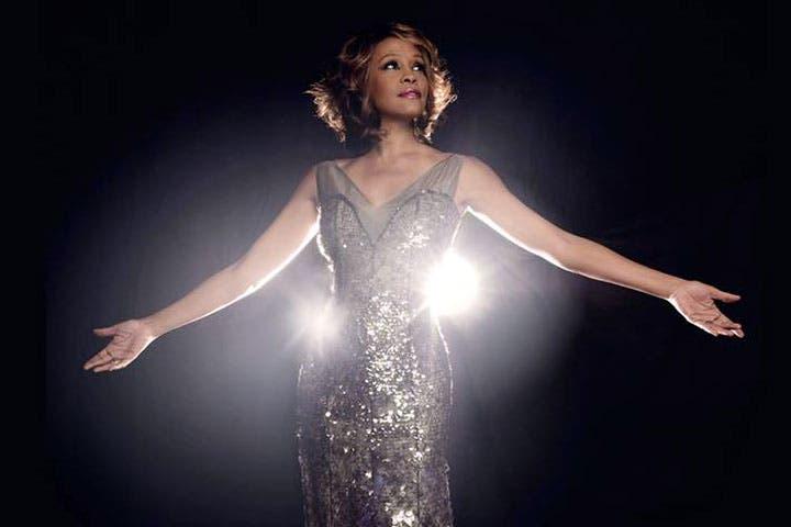 Belinda Davids belts out the Whitney Houston high notes in Dubai. (Image: Facebook)