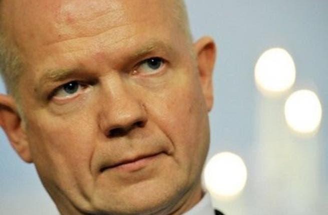 British Foreign Minister William Hague